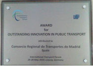 Premio UITP Innovacion 2010