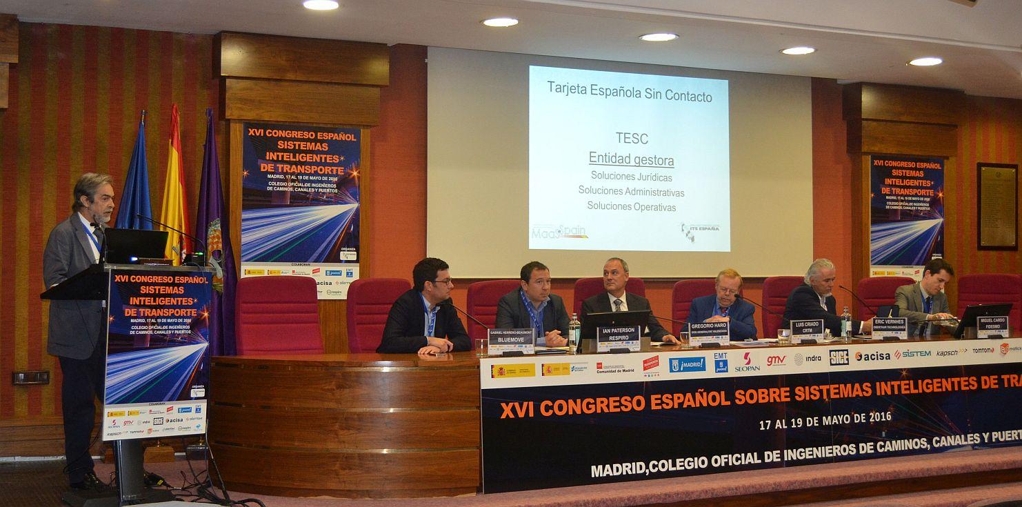 Presentación Tarjeta Española Sin Contacto, CICCP Mayo 2016.