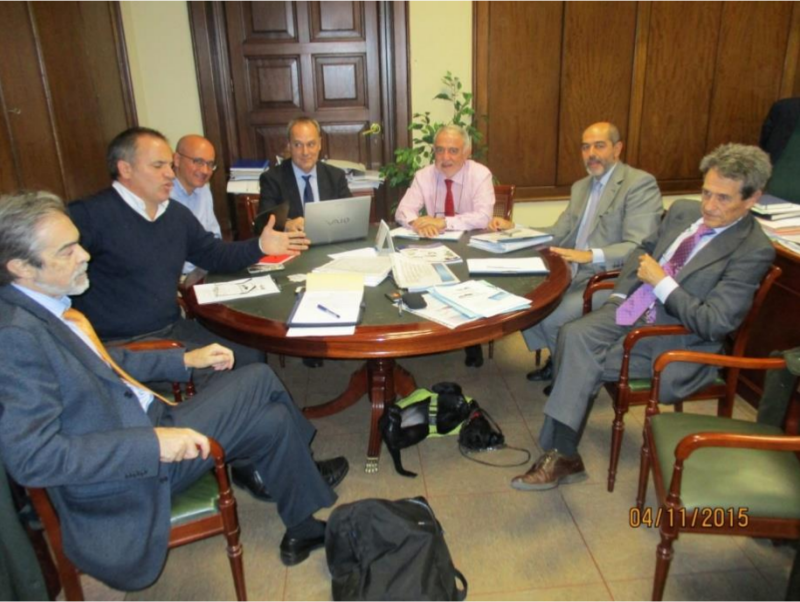 Presentación inicial del Proyecto de tarjeta TESC al Ministerio de Fomento, Noviembre 2015.